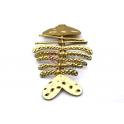 Pendente Zamak Peixe Articulado - Dourado Mate (95x60)