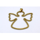 Pendente Aço Inox Anjo Contorno - Dourado (45x50mm)
