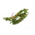 Corrente Dourada Missanga Japonesa Verde [99cm]