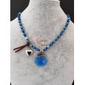 Colar Pedras e Briolette - Azulão