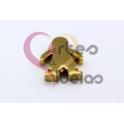 Conta Aço Inox Menino - Dourada (17x18mm)