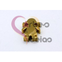 Conta Aço Inox Menina - Dourada (17x11mm)