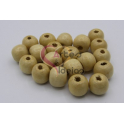 Pack 20 Contas Pipa de Madeira 12mm - Natural