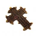 Pendente Metal Africano [Mod 26854] - Dourado Velho (83x68mm)