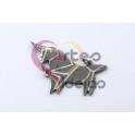 Pendente Aço Inox Unicornio Origami - Prateado (17x30mm)