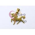 Pendente Aço Inox Unicornio - Dourado (20x30mm)