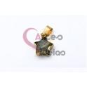 Pendente Pedra Semi-Preciosa Mini Estrela Labradorite Cinza - Dourado (13x13mm)
