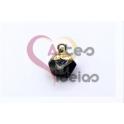 Pendente Pedra Semi-Preciosa Mini Bola Irregular Sodalite - Dourado (8x8mm)