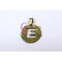Pendente Aço Inox Medalha Redonda Letra E - Dourado (25mm)