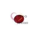 Pendente de Madrepérola Medalha Redonda (20mm) - Vermelho