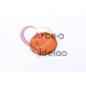 Pendente de Madrepérola Medalha Redonda (20mm) - Laranja