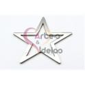 Pendente Aço Inox Estrela - Prateado (50mm)