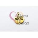 Pendente Aço Inox Mini Medalha Arvore da Vida Recortada - Dourado (15mm)