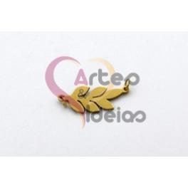 Pendente Aço Inox Folha - Dourado (9x20mm)