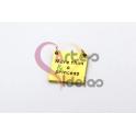 Pendente Aço Inox Quadrado Princess - Dourado (15mm)