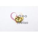 Pendente Aço Inox Mini Borboleta Estilizada - Dourado (10x15mm)