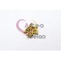 Pendente Aço Inox Mini Folha - Dourado (13x14mm)