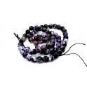 Fiada de Pedras Violeta Cinza e Preto (6mm) - [64unds]