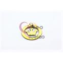 Pendente Aço Inox Aro Coroa - Dourado (25mm)