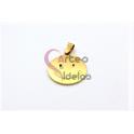 Pendente Aço Inox Smiley - Dourado (25mm)