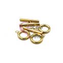 Fecho Aço Inox em T (10mm) - Dourado