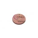 PACK 8 Pendente Madeira Redondo Colorido - Rosa Velho (30mm)