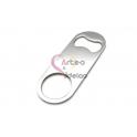 Abre Caricas Aço Inox Liso Personalizavel - Prateado (80x30)