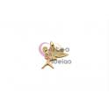 Pendente Aço Inox Fada Madrinha - Dourado (27x23mm)