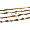 Corrente Aço Inox Dourada Apontamentos Castanho Laranja [98cm]