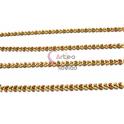 Corrente Aço Inox Dourada Apontamentos Creme Rosa Velho [98cm]