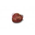 Pendente Pedra Semi-Preciosa Coração Pedra Sol - Prateado (22x25)