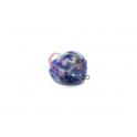 Pendente Pedra Semi-Preciosa Coração Azul Mesclado - Prateado (22x25)