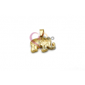 Pendente Aço Inox Elefante - Dourado (17x25mm)