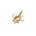 Pendente Aço Inox Tartaruga - Dourado (28x17mm)
