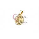 Pendente Aço Inox Nossa Senhora Relevo - Dourado (25x17mm)