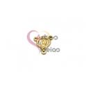 Pendente Aço Inox Entremeio 3D Nossa Senhora - Dourado (18x16mm)