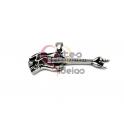 Pendente Aço Inox Guitarra - Prateado (18x63mm)