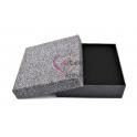 Caixa Quadrada Oferta - Cinza Shinny Sparkling