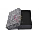 Caixa Rectangular Oferta - Cinza Shinny Sparkling