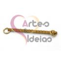 Pendente Aço Inox Barra Ondulada - Dourado (29x2mm)