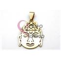 Pendente Aço Inox Buddha - Dourado (30x21mm)