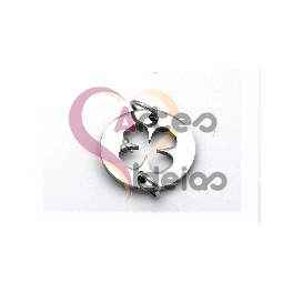 Pendente Aço Inox Mini Trevo - Prateado (14mm)