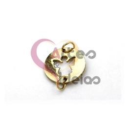 Pendente Aço Inox Mini Anjo - Dourado (14mm)