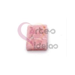 Pendente Acrílico Relevo Nossa Senhora - Rosa (19x12mm)