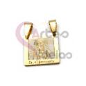 Pendente Aço Inox Jesus Cristo - Dourado (15x15mm)