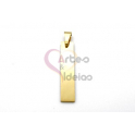 Pendente Aço Inox Barra Vertical - Dourado (30x6mm)