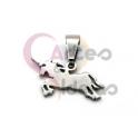 Pendente Aço Inox Mini Unicornio - Prateado (8x18mm)