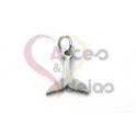 Pendente Aço Inox Mini Cauda Baleia - Prateado (10x10mm)