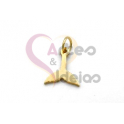 Pendente Aço Inox Mini Cauda Baleia - Dourado (10x10mm)