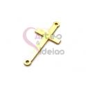 Pendente Aço Inox Cruz - Dourado (31x15mm)